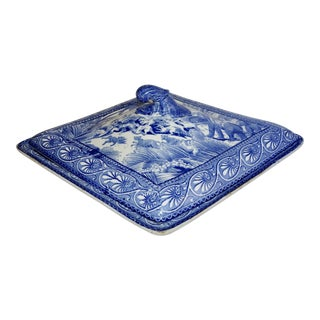 19th Century Traditional Blue and White Covered Dish
