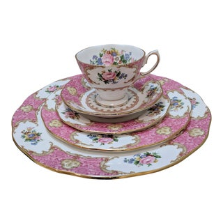 Royal Albert Lady Carlyle Service for 1 Bone China - 5 Pc. Set For Sale