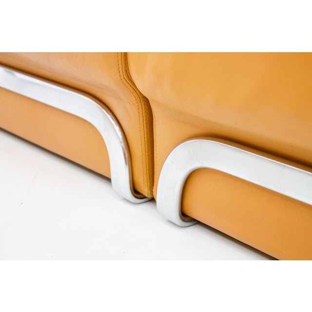 Modular Seating Group & Coffee Table Leather Sofa by Horst Brüning for Kill 1970 For Sale - Image 10 of 12