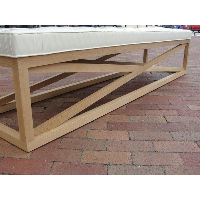 Modern Extra-Long Tufted Bench For Sale - Image 4 of 8