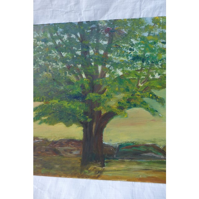 MCM Painting of Large Tree by H.L. Musgrave - Image 4 of 6