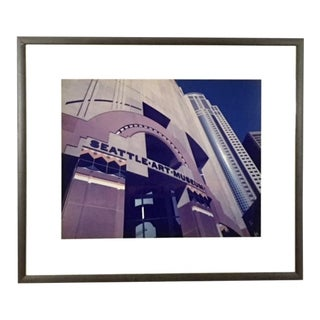 1990s Vintage Seattle Art Museum Gallery Print For Sale