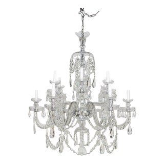 Medium Preciosa Cut Crystal Chandelier - Showroom Sample For Sale