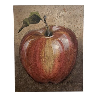 "XL Painting on Canvas of Red Apple - 40"" X 50"" For Sale"
