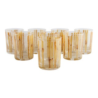 Set of 8 Bamboo Tumblers by Cera for Neiman Marcus For Sale