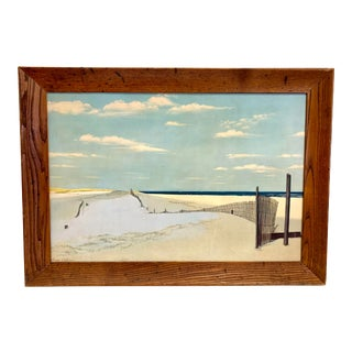 Vintage Signed Oil Painting Cape Cod Dunes, Beach For Sale