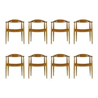 Set of Eight Hans Wegner JH-503 Chairs For Sale
