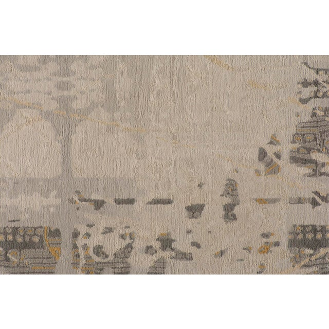 2010s Stark Studio Rugs Contemporary New Oriental Tibetan Wool Rug - 9′ × 12′ For Sale - Image 5 of 5