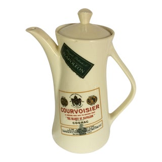 Vintage Knowles Cognac Champagne Label Hot Cocoa Pot Pitcher
