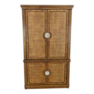 Drexel Heritage Caned Entertainment Center For Sale