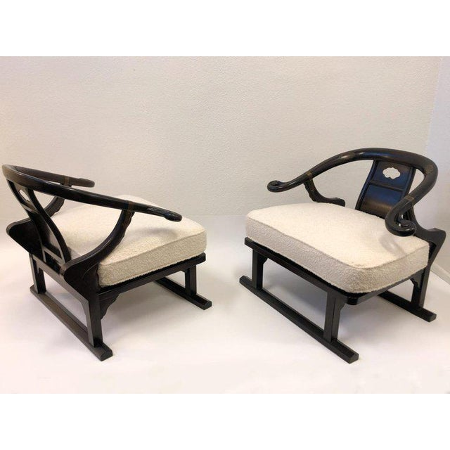 Michael Taylor for Baker Walnut Lounge Chairs - a Pair For Sale - Image 9 of 11