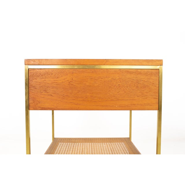 Paul McCobb for Calvin Group Mid Century Oak and Brass Nightstand For Sale - Image 11 of 13
