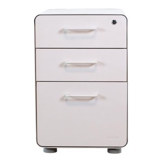 Poppin White File Cabinet For Sale