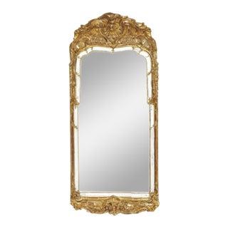 Swedish Rococo Giltwood Mirror Frame For Sale