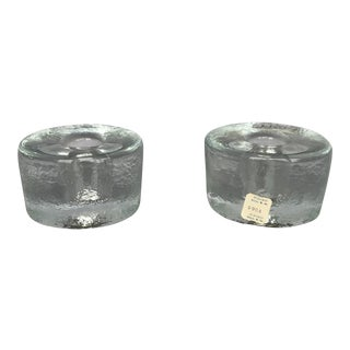 Blenko Glass Candlestick Holders - Set of 2 For Sale