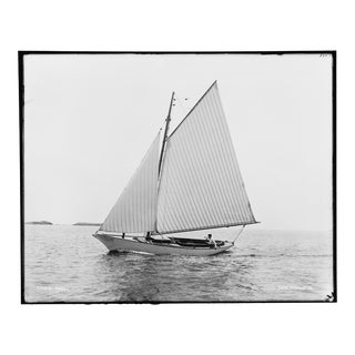 Port Side - Print of Early 1900's Sailboat Image