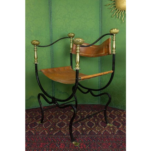 20th Century Italian Iron Campaign Chair For Sale - Image 9 of 11