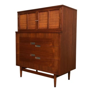 Mid-Century Modern 5-Drawer Dresser / Chest ~ by American of Martinsville Accord X-Inlay For Sale
