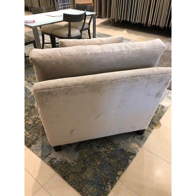 Linen Velvet Gramercy Chair For Sale In Boston - Image 6 of 10