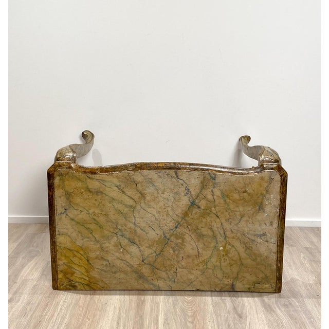 Italian Baroque Style Console Table For Sale In San Francisco - Image 6 of 8