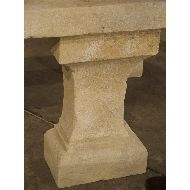 Pair of Carved Limestone Console Tables from the South of France - Image 2 of 11
