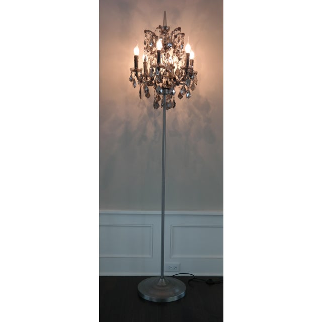 Purchased from Restoration Hardware's selection of floor lamps inspired by 18th-century Rococo lighting. Crystal glass is...