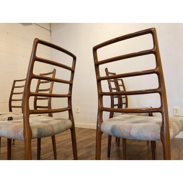 Wood Rosewood Model 82 Dining Chairs by Niels Otto Møller for j.l. Møllers Møbelfabrik - Set of 6 For Sale - Image 7 of 13