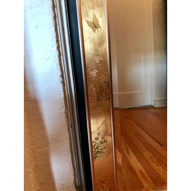 LaBarge Chinoiserie Style Eglomise Mirror For Sale In Chicago - Image 6 of 12