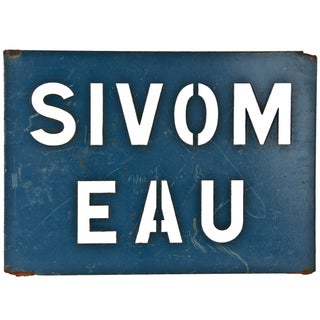 French Steel Sivom Water Sign