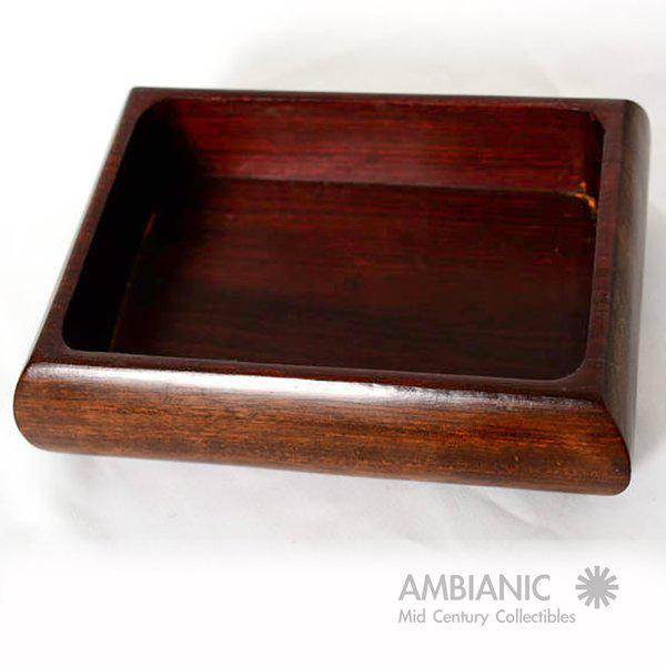 Mahogany With Silver Emblem Jewelry Box For Sale - Image 10 of 10