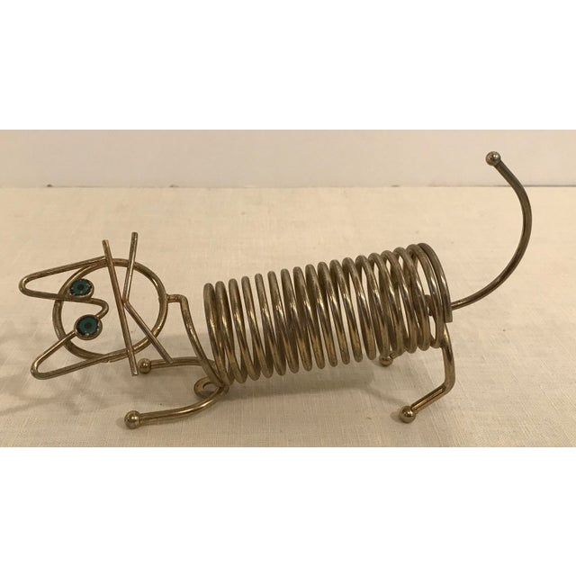 Mid-Century Cat Coiled Letter Holder - Image 8 of 8