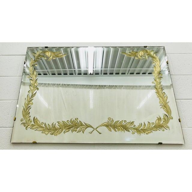 1900 - 1909 Antique Art Deco Gold Foil Mirror For Sale - Image 5 of 13