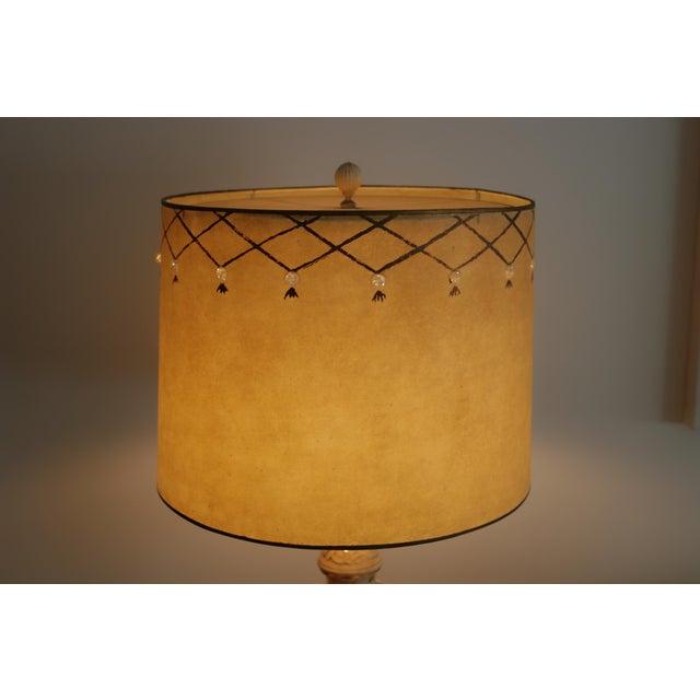 Vintage Mid-Century Lamp & Fiberglass Lamp Shade For Sale - Image 11 of 11