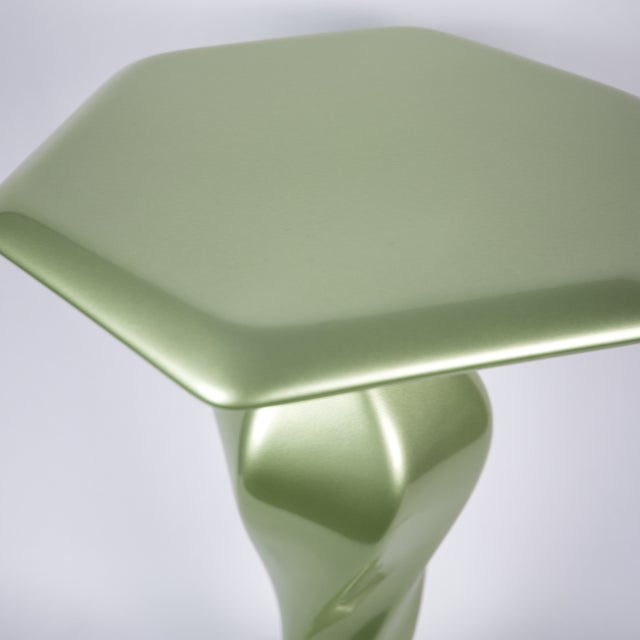 Accent Table No. 1 by Chris Delmar in Peridot For Sale - Image 4 of 9