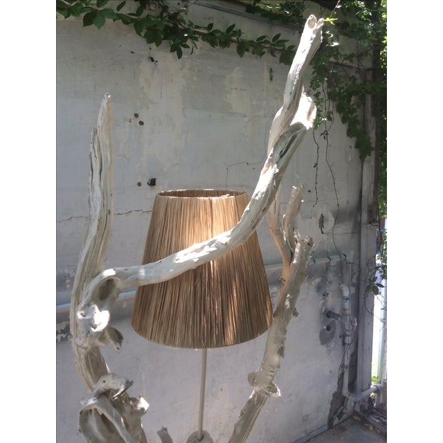 Mid Century Modern Driftwood Sculptural Table Lamp - Image 4 of 8