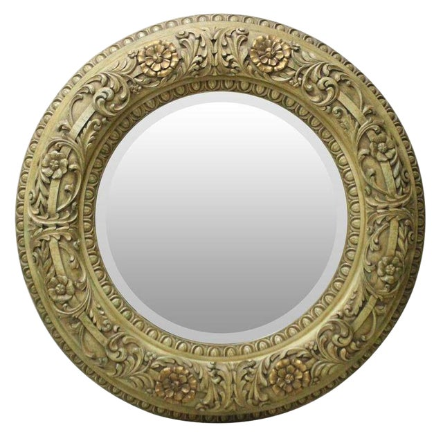 Italian Style Carved Mirror For Sale