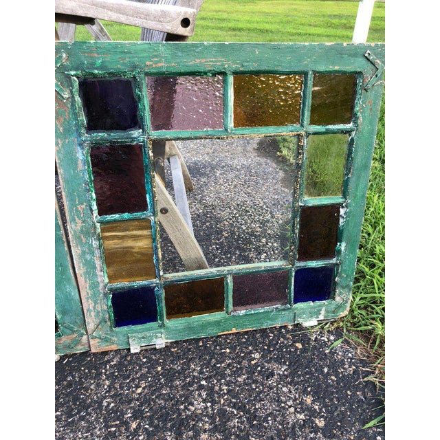 Stained Glass Windows - a Pair For Sale In New York - Image 6 of 13