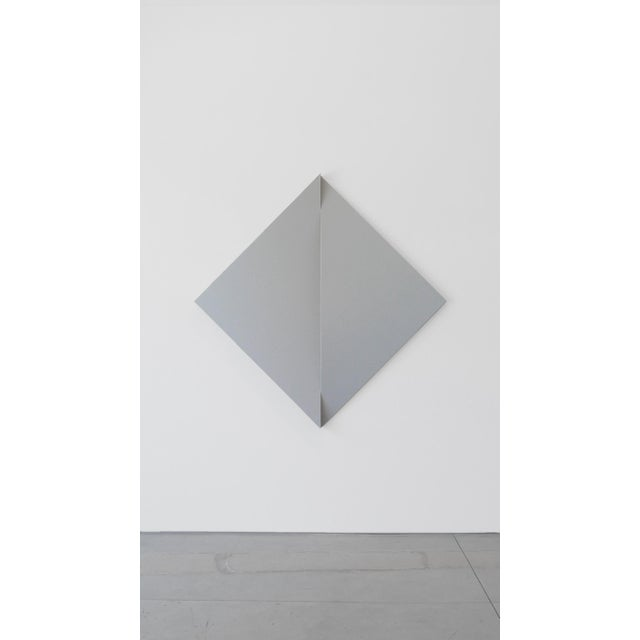 """Jan Maarten Voskuil """"Non-Fit Triangles I (Gray)"""" Acrylics on Linen, 2017 For Sale In Los Angeles - Image 6 of 6"""
