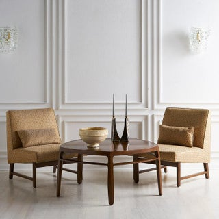 Edward Wormley for Dunbar Mahogany Slipper Chairs Preview