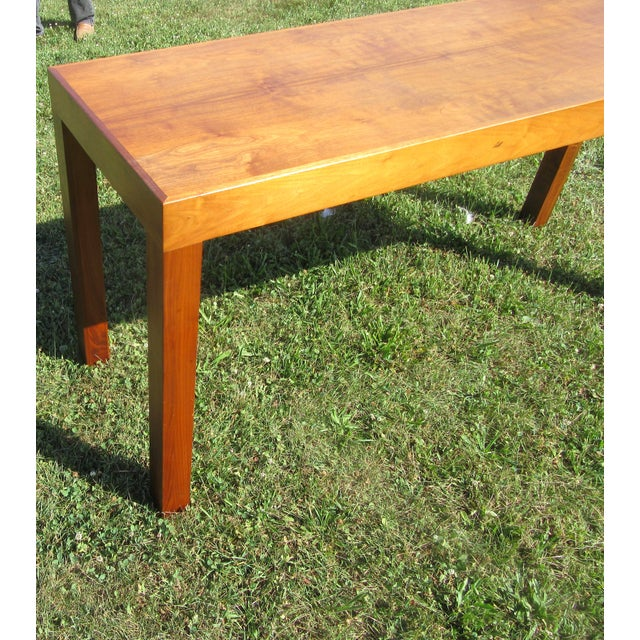 Wood Mid-Century Modern Teak Sofa /Hall Table Signed Paine's Furniture For Sale - Image 7 of 10