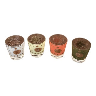 1960's George Briard Low Ball Glasses - Set of 4 For Sale