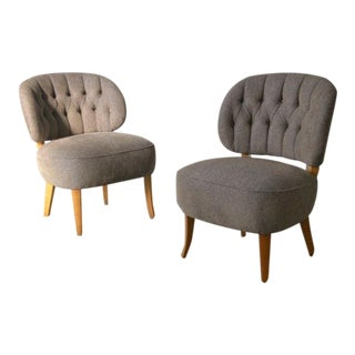 CARL MALMSTEN Pair of chairs Carl Malmsten Studio Sweden, ca. 1940 For Sale