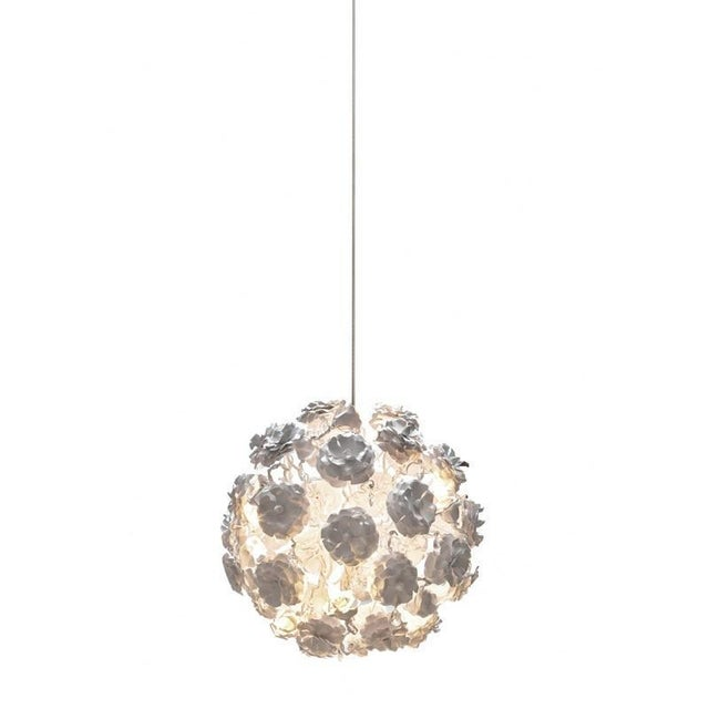 """Mid-Century Modern Brand Van Egmond Floral """"Love You Love You Not"""" Chandelier For Sale - Image 3 of 9"""