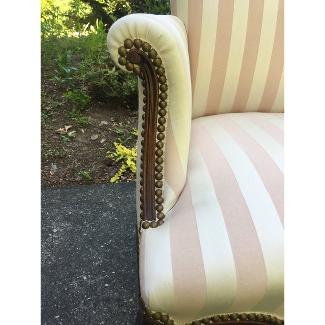 Pink Late 20th Century Striped Perfection Chair For Sale - Image 8 of 13