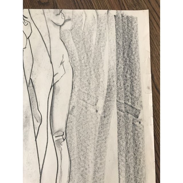 Nude Figure Study Sketch For Sale - Image 5 of 6