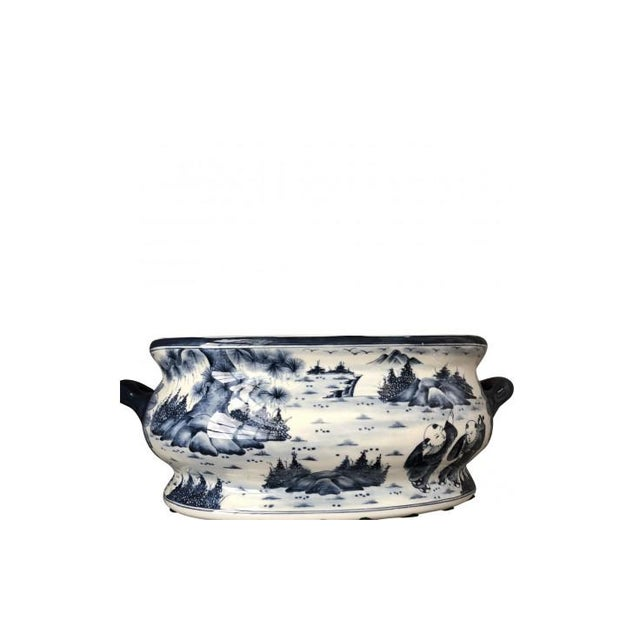 Ceramic Chinese Chinoiserie Porcelain Foot Bath/Cachepot For Sale - Image 7 of 7