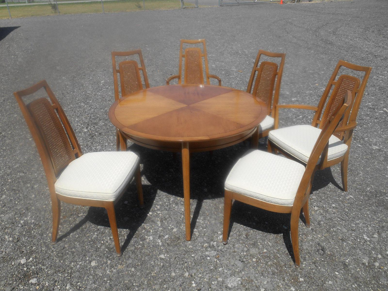 Drexel Heritage Mid Century Modern 1960u0027s Drexel Meridian Danish Dining Set  For Sale   Image