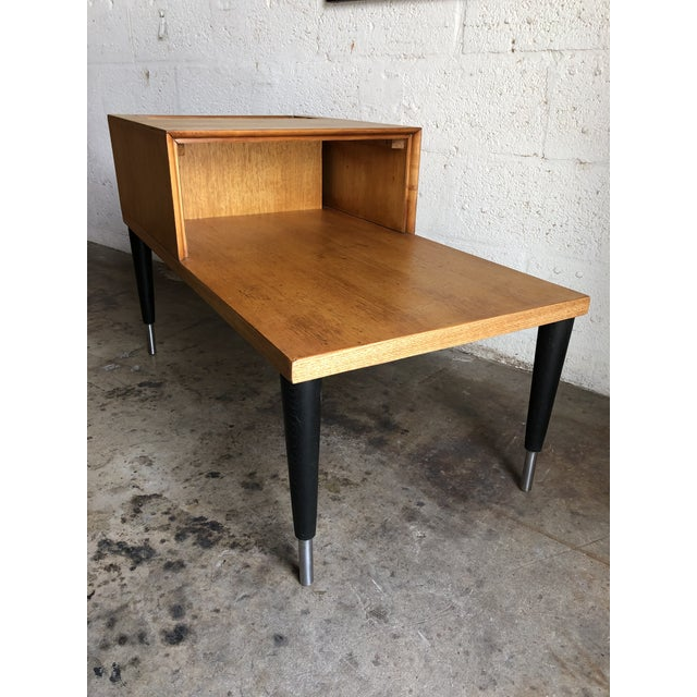 Vintage Mid Century Modern Phone Table by Raymond Loewy for Mengel Furniture For Sale In Miami - Image 6 of 13