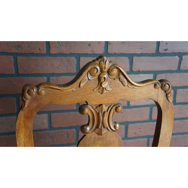 French Early 20th Century Antique French Provincial Carved Chair For Sale - Image 3 of 10