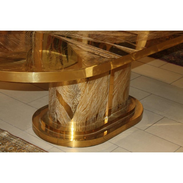 Bronze Signed Armand Jonckers Etched Bronze Dining Table For Sale - Image 7 of 9